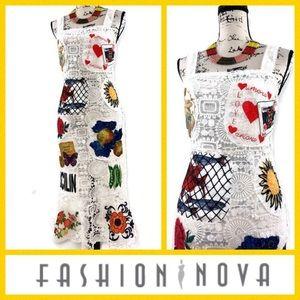 Fashion Nova Crochet Fishtail Dress